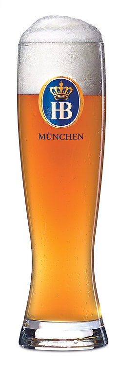 Hofbräu Wheat Beer Glass 500mL - 6 Glasses