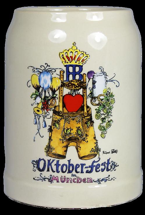 Hofbräu Ceramic Oktoberfest 500mL Stein  - 1 Stein