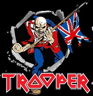 Trooper Beer Logo Eddie With Flag