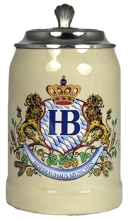 Hofbräu Ceramic 250mL Stein With Lid - 1 Stein
