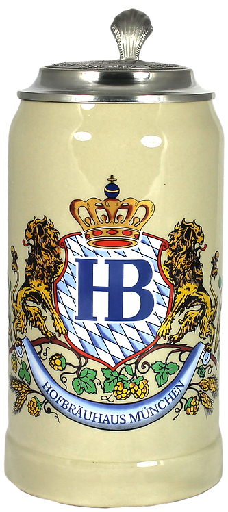 Hofbräu Ceramic 1L Stein With Lid - 1 Stein