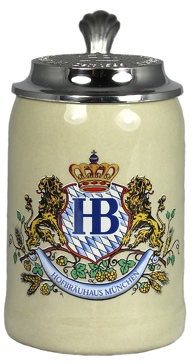 Hofbräu Ceramic 500mL Stein With Lid - 1 Stein