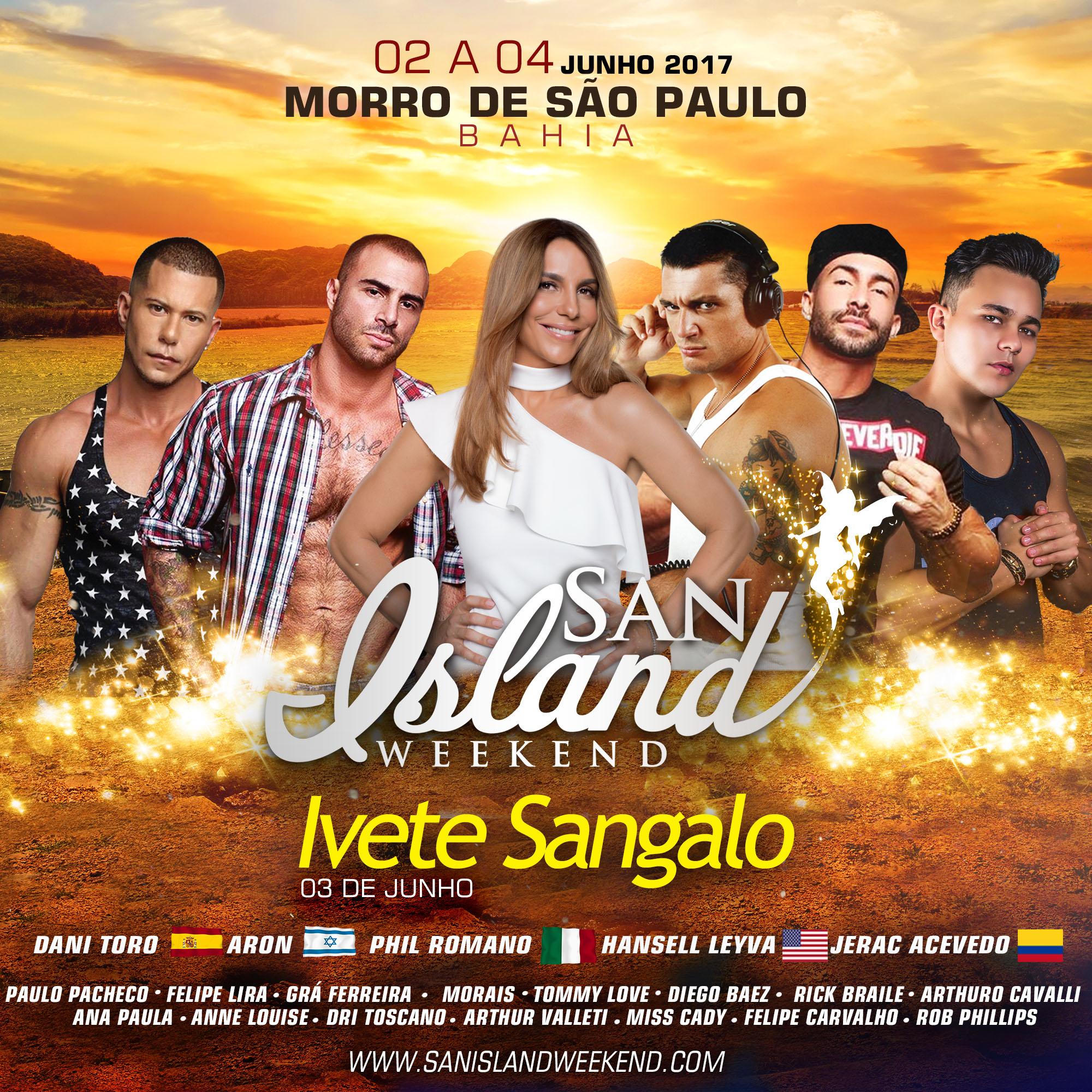 SAN ISLAND - IVETE COM DJS com colombiano