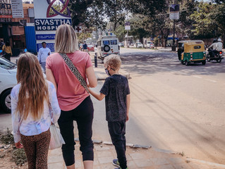 Walking on the streets of India