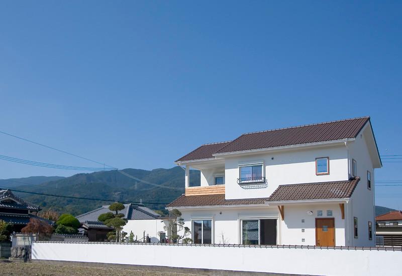 和歌山 0宣言の家 出雲建築設計 大阪 東大阪 医師が薦める健康住宅 自然素材住宅 外観 外壁遮熱