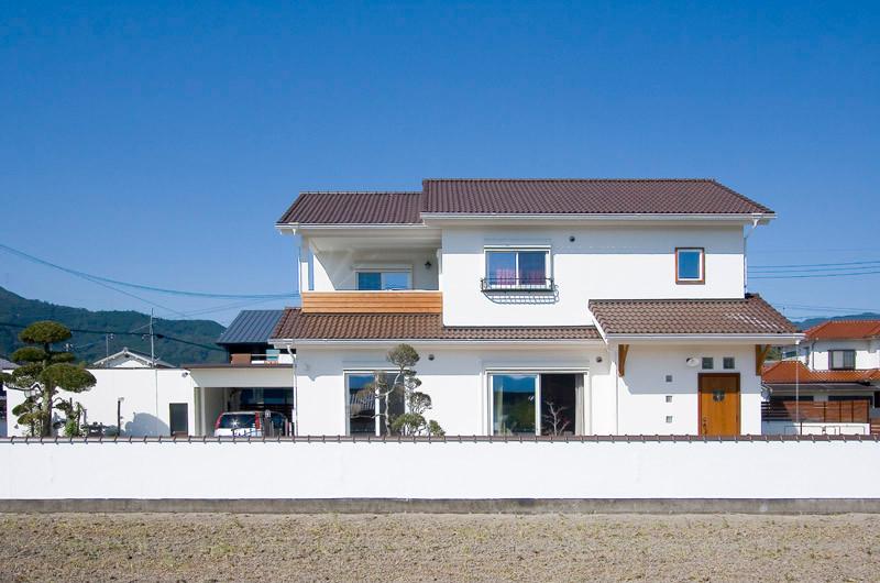 和歌山 0宣言の家 出雲建築設計 大阪 東大阪 注文住宅 健康住宅 自然素材の家 外観 陶器瓦