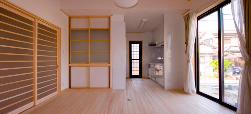 和歌山 0宣言の家 出雲建築設計 大阪 東大阪 注文住宅 健康住宅 自然素材の家 和風 内観 無垢フローリング
