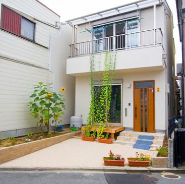 枚方 0宣言の家 出雲建築設計 大阪 東大阪 注文住宅 外観 遮熱壁 ウッドデッキ バルコニー