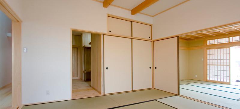 和歌山 0宣言の家 出雲建築設計 大阪 東大阪 注文住宅 医師が薦める健康住宅 自然素材の家 和風 内観 スペイン漆喰