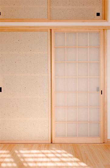 和歌山 0宣言の家 出雲建築設計 大阪 東大阪 注文住宅 健康住宅 自然素材の家 和風 内観 無垢建具