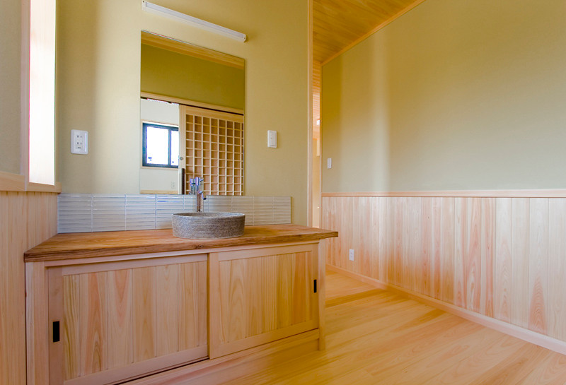 和歌山 0宣言の家 出雲建築設計 医師が薦める健康住宅 自然素材住宅 和風 内観 造作手洗い