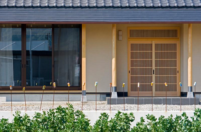 和歌山 0宣言の家 出雲建築設計 大阪 東大阪 注文住宅 健康住宅 自然素材の家 和風 外観 玄関
