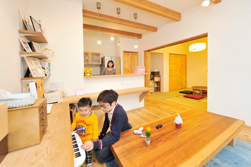 大阪 自然素材の家 健康住宅リフォーム リビング