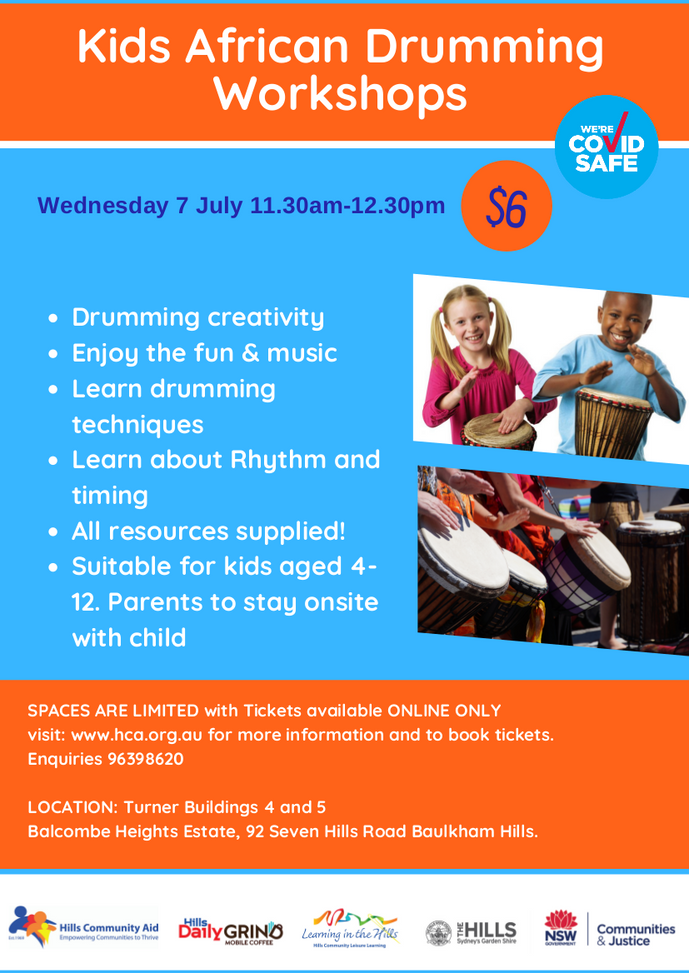 African Drumming - 11:30 am