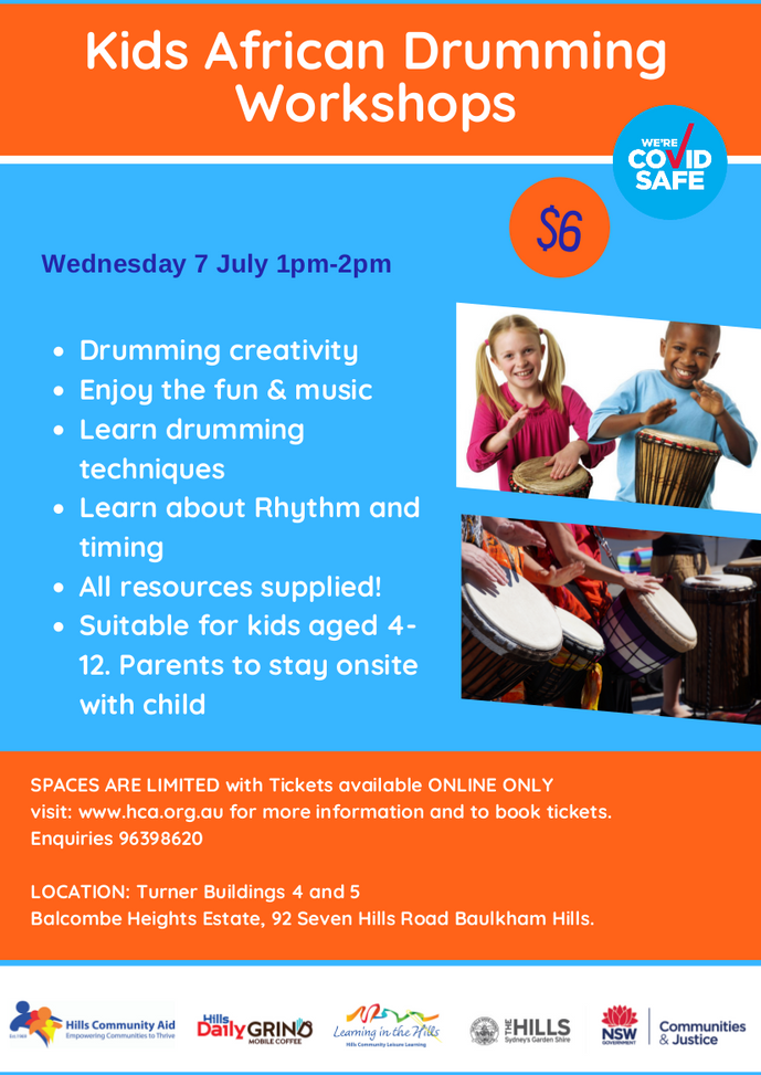 African Drumming - 1 pm