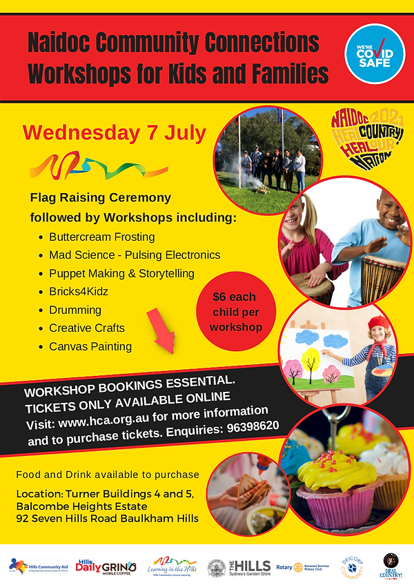 Naidoc Community Connections Workshops for Kids and Families