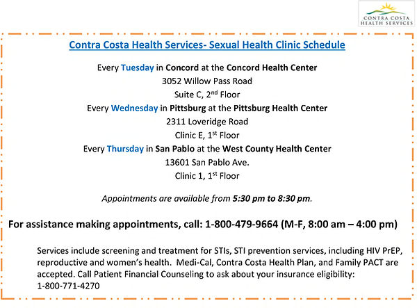 EnglishSexual Health Clinic Schedule Flyer Updated 7.2021 .jpf