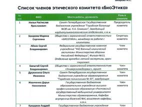 Обновленный состав комитета