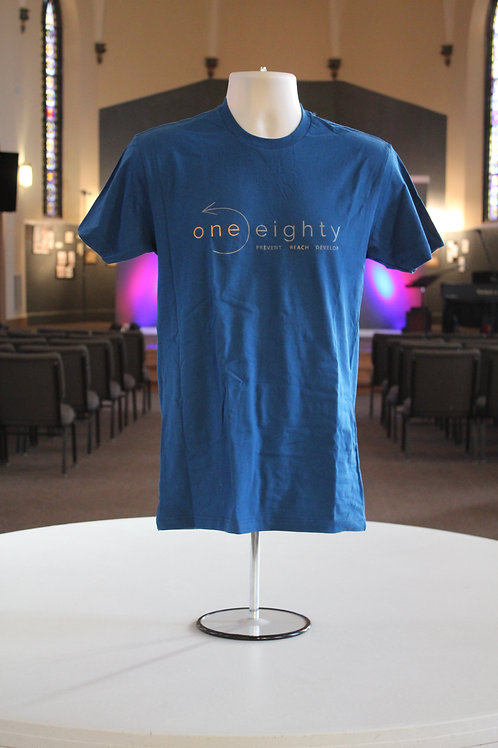 one eighty t shirt - blue