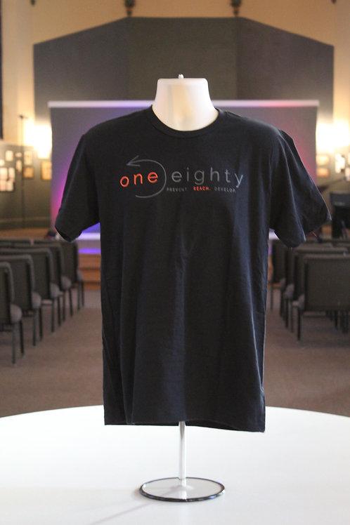 one eighty t shirt - black