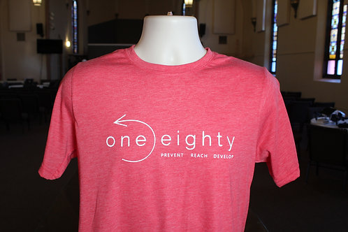 one eighty t shirt - heather red