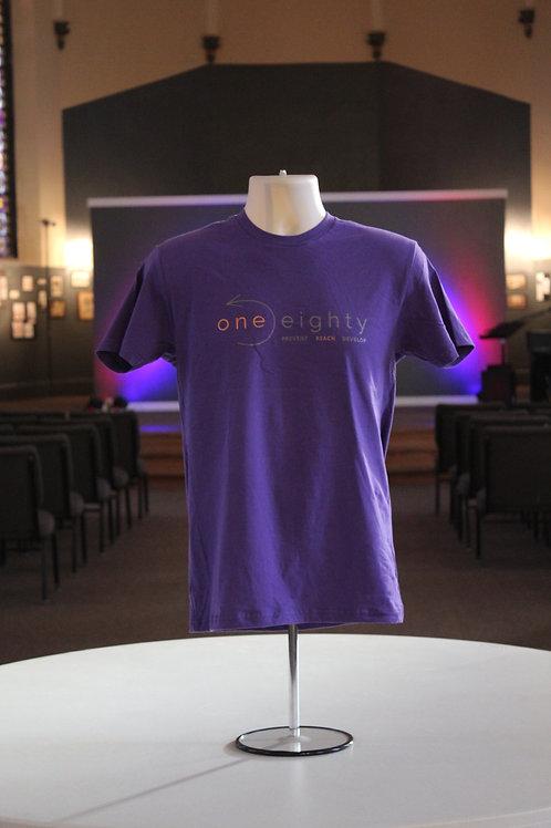 one eighty t shirt - purple