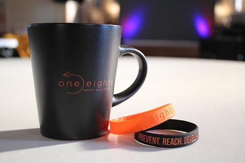one eighty ceramic coffee mug