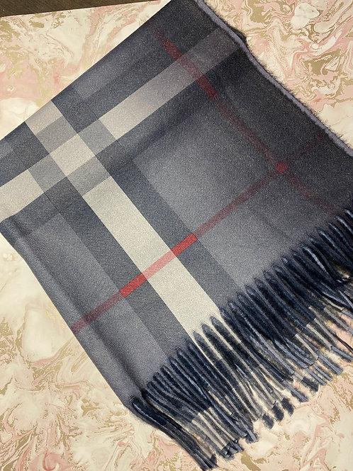 Tartan Scarf - Grey