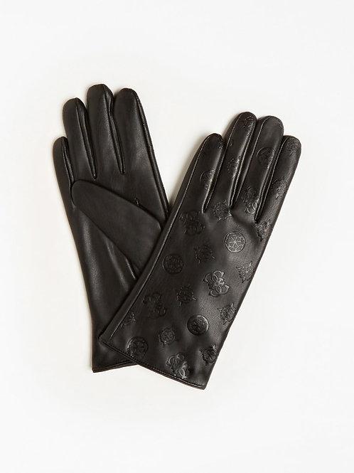 GUESS Logo Gloves - Black