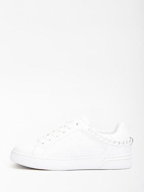 GUESS Chain Logo Sneaker- White