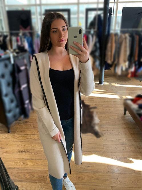 RINO & PELLE Cream Long Cardigan