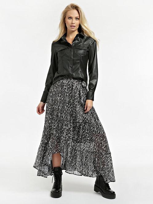 GUESS - Faux Leather Shirt - Black
