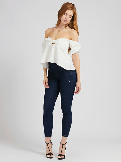 GUESS - Off Shoulder Knotted Top