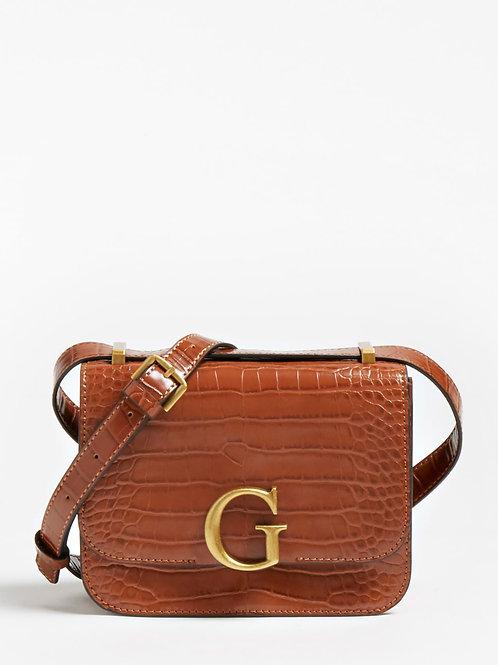 GUESS - The Corily Croc Bag (Tan)