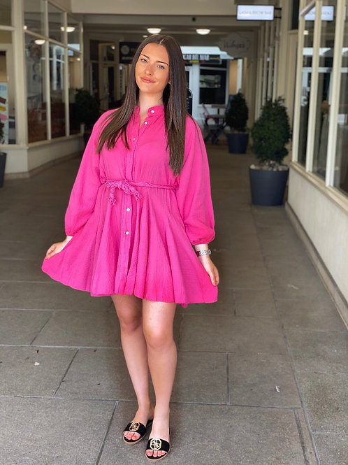 Rope Belted Dress - Pink