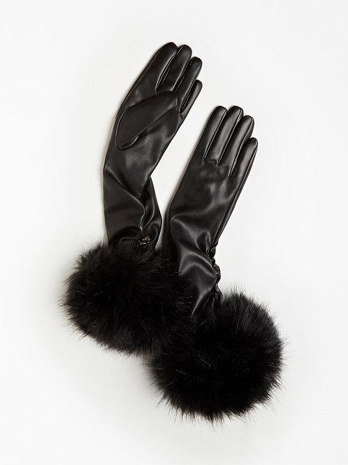 GUESS Faux Fur Gloves
