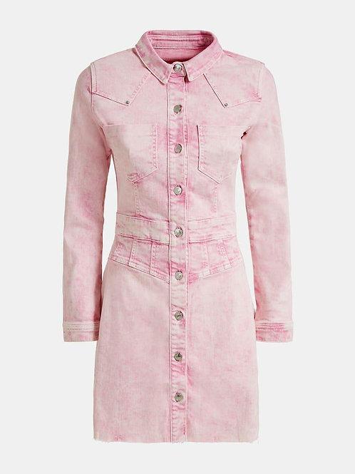 GUESS Denim Dress - Pink