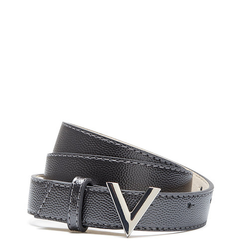Mario Valentino Belt - Metallic Grey