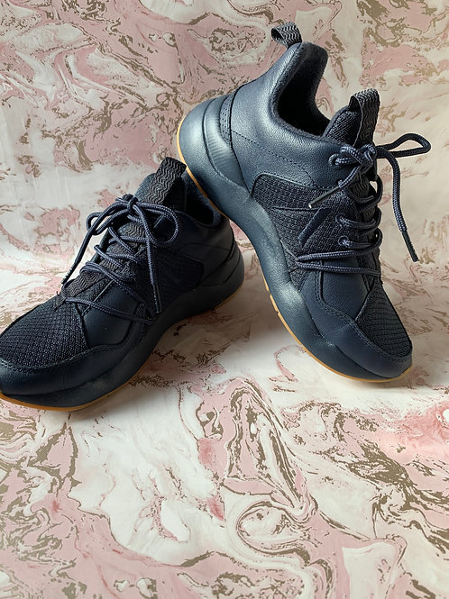 ARKK Leather Trainers - Navy