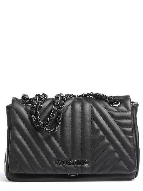 MARIO VALENTINO Black Quilt Shoulder Bag