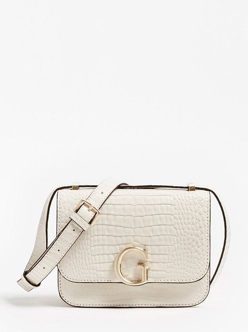 GUESS - The Corily Croc Bag (Cream)
