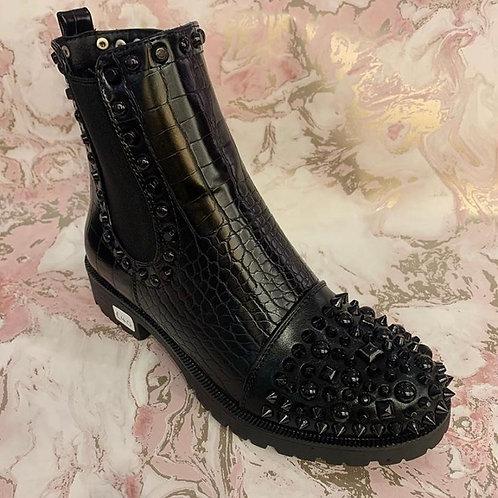 Black Stud Boot