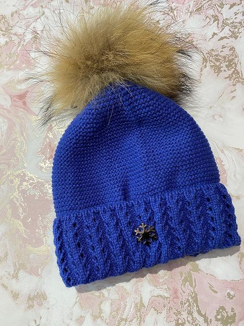 Snowflake Fur Bobble - Royal