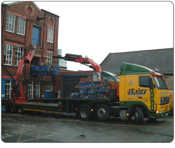 Loom Machinery removals wagon crane hire
