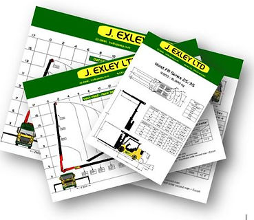 J. Exley Vehicle Data Sheets