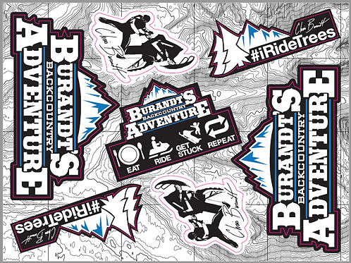 Burandt's Backcountry Adventure Sticker Sheet