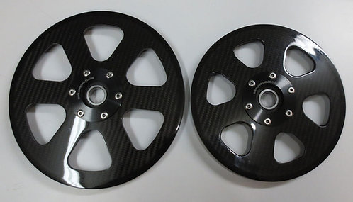 "Nextech Carbon Fiber 8"" Wheel's (Set of 2)"