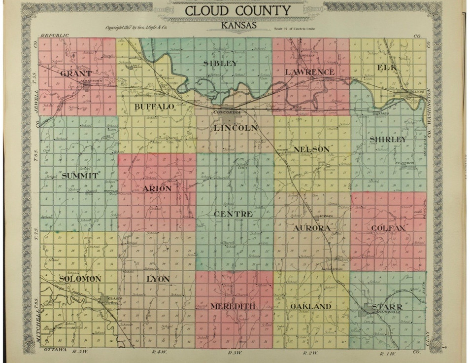 1: Cloud County Townships