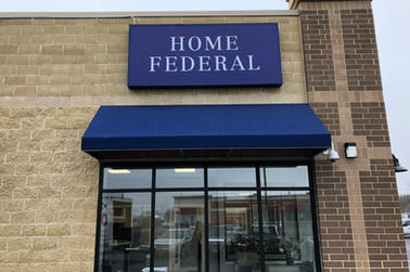 Home Federal Banks Exterior Sign