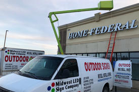Home Federal Bank Exterior Sign Install